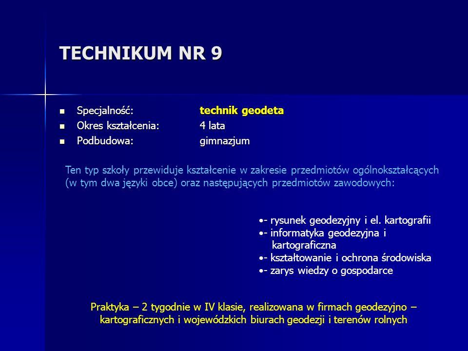 INDEKSY NA STUDIA Absolwenci Technikum Ochrony Środowiska corocznie uczestniczą w konkursie Technik roku organizowanym przez Łomżyńską Radę Federacji i Stowarzyszeń Naukowo - Technicznych NOT w Łomży.