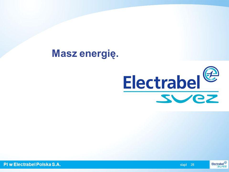 PI w Electrabel Polska S.A. slajd 28 Masz energię.