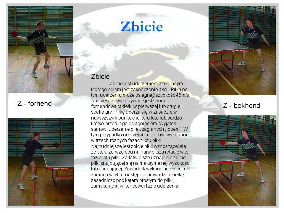 Flip Ten rodzaj uderzenia w tenisie stołowym pojawił się dopiero w latach siedemdziesiątych. Prekursorem jego był szwedzki zawodnik Stellan Bengtsson