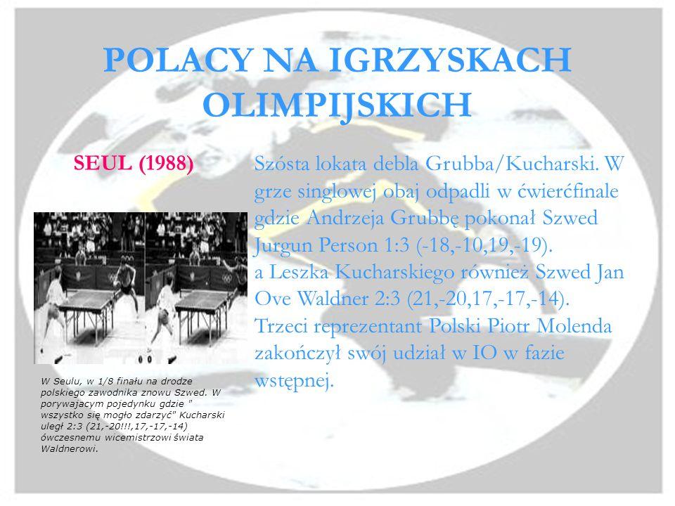 POLACY NA IGRZYSKACH OLIMPIJSKICH SEUL (1988) Szósta lokata debla Grubba/Kucharski.