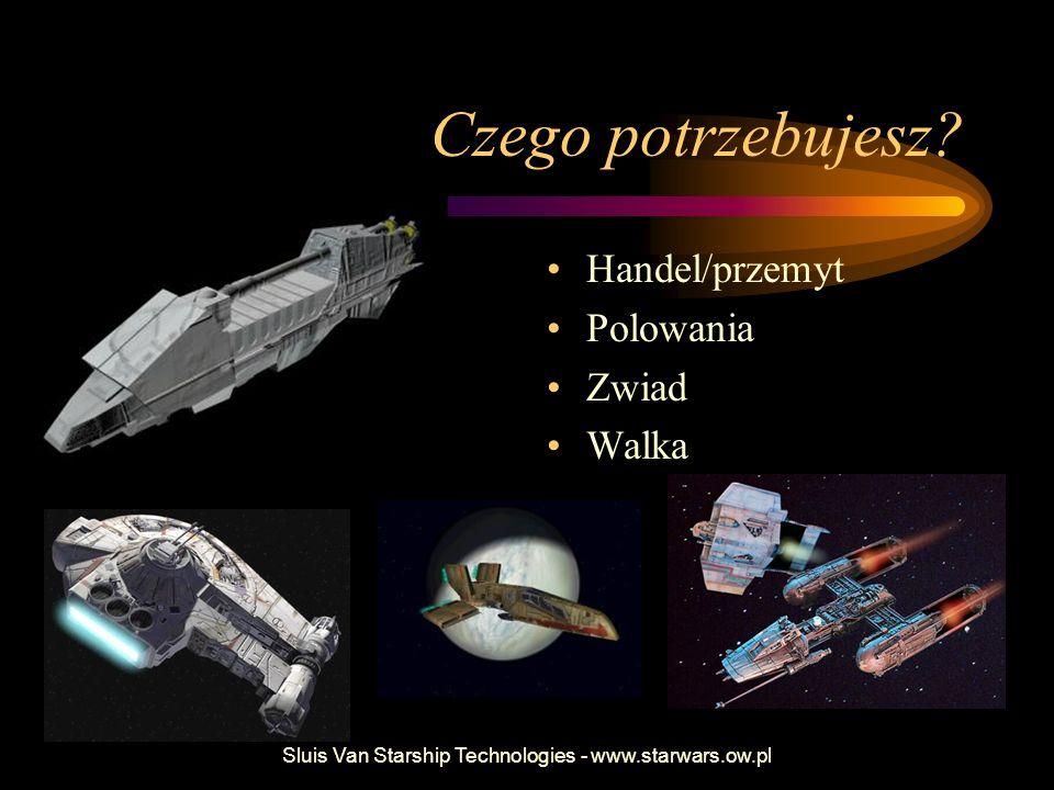 Sluis Van Starship Technologies - www.starwars.ow.pl Czego potrzebujesz? Handel/przemyt Polowania Zwiad Walka