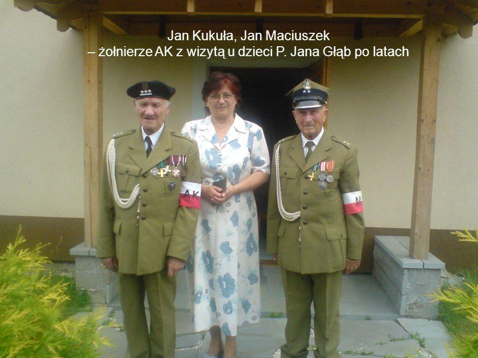 Jan Kukuła, Jan Maciuszek – żołnierze AK z wizytą u dzieci P. Jana Głąb po latach