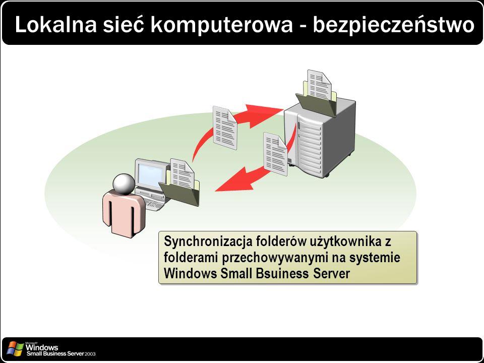 Lokalna sieć komputerowa - bezpieczeństwo Synchronizacja folderów użytkownika z folderami przechowywanymi na systemie Windows Small Bsuiness Server