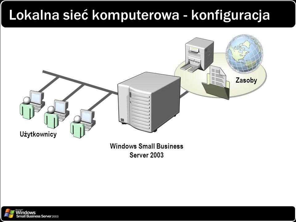 Windows Small Business Server 2003 Użytkownicy Zasoby Lokalna sieć komputerowa - konfiguracja