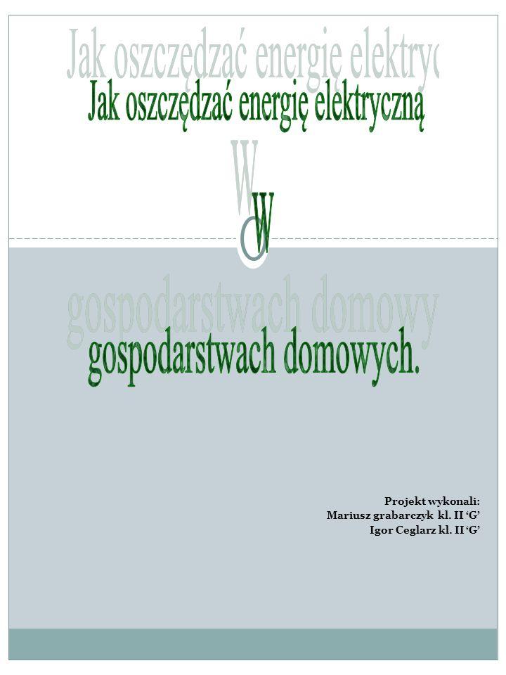 Projekt wykonali: Mariusz grabarczyk kl. II G Igor Ceglarz kl. II G