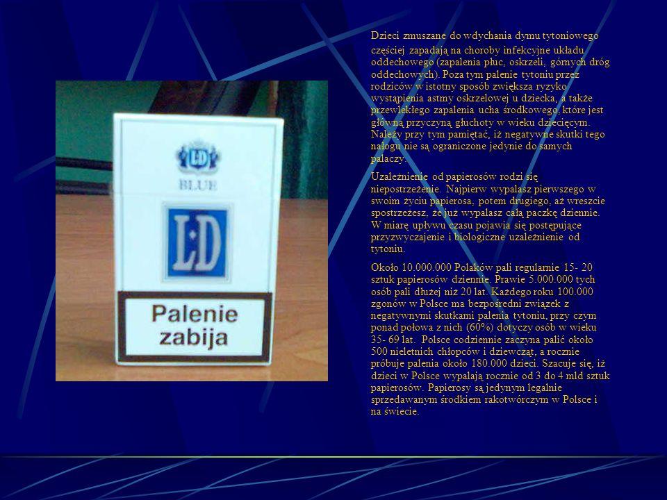 Skutki niekontrolowanego wprowadzania do organizmu substancji chemicznych – nikotynizm. Palenie tytoniu to nie tylko farmakologiczne uzależnienie od n