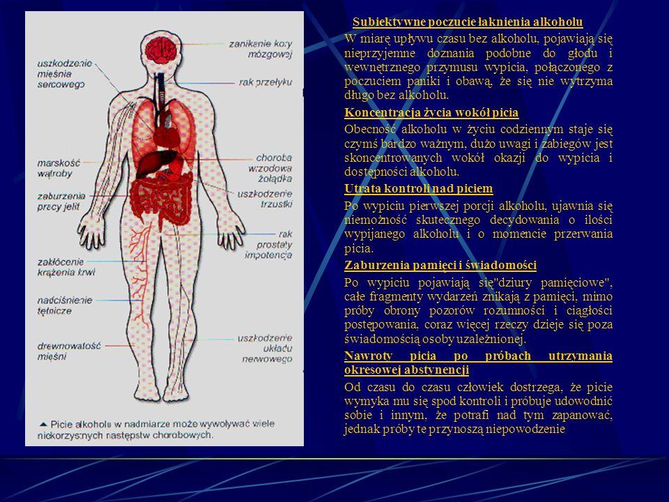 Skutki niekontrolowanego wprowadzania do organizmu substancji chemicznych – alkoholizm. Uzależnienie od alkoholu, czyli alkoholizm, jest chorobą, któr