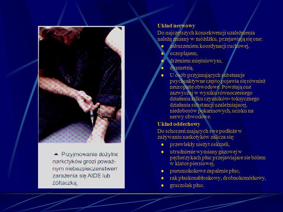 Skutki niekontrolowanego wprowadzania do organizmu substancji chemicznych – narkomania. Wielokrotnie zdarza się, że programy nakierowane na niesienie