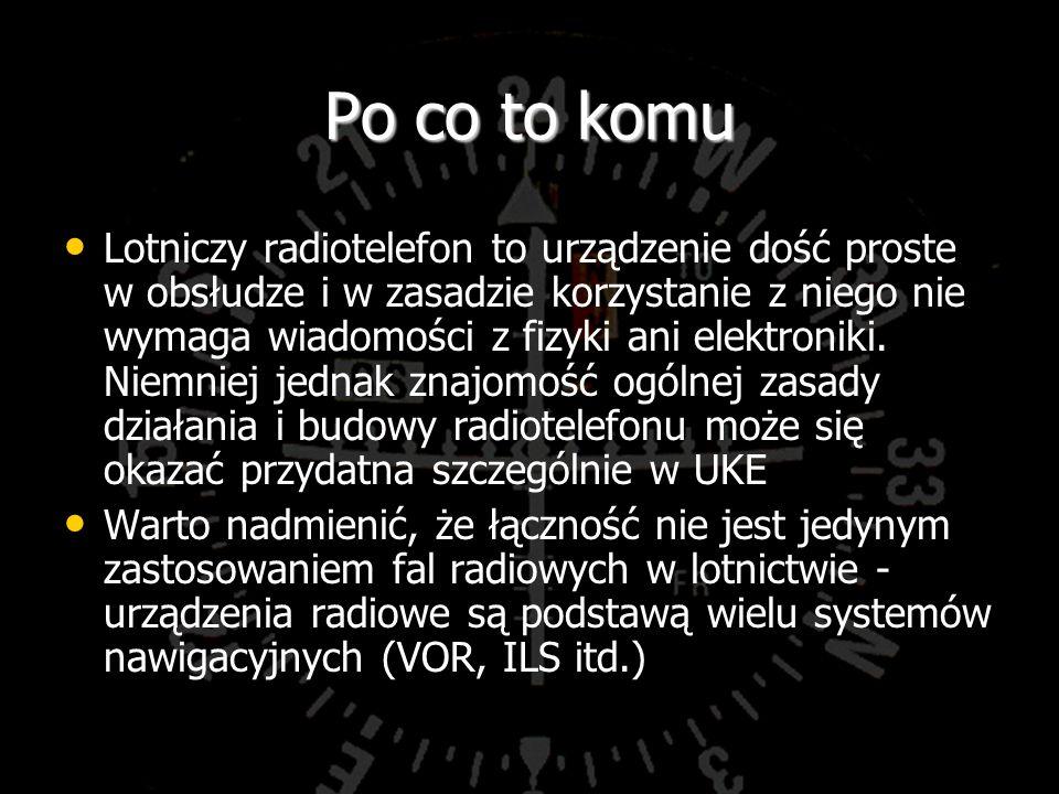 podział Służby : stałe, ruchome, rozgłaszania, radionawigacyjne Służby : stałe, ruchome, rozgłaszania, radionawigacyjne Korespondencja: air-air, air-ground, rozgłaszeniowa, radionawigacyjna, na ślepo.