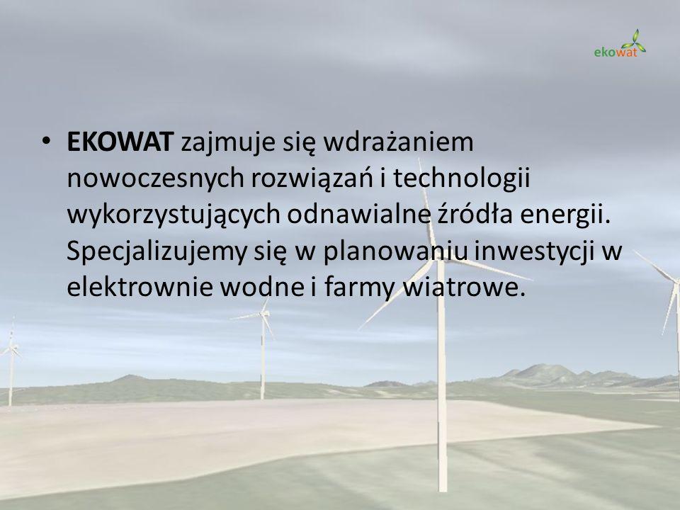 EKOWAT zajmuje się wdrażaniem nowoczesnych rozwiązań i technologii wykorzystujących odnawialne źródła energii. Specjalizujemy się w planowaniu inwesty