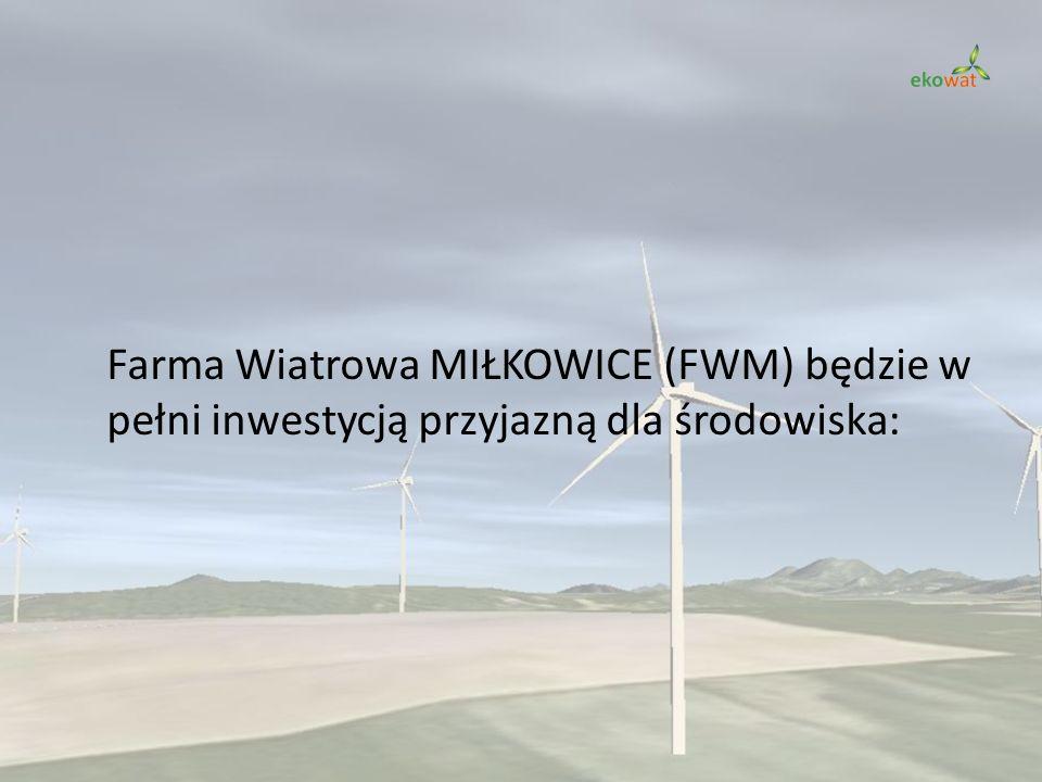Farma Wiatrowa MIŁKOWICE (FWM) będzie w pełni inwestycją przyjazną dla środowiska: