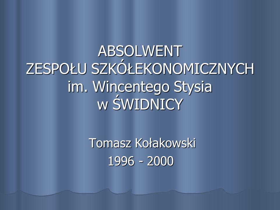 Tomasz Kołakowski … Uśmiechnięty, skromny, pozytywnie nastawiony do świata i ludzi… Uśmiechnięty, skromny, pozytywnie nastawiony do świata i ludzi…