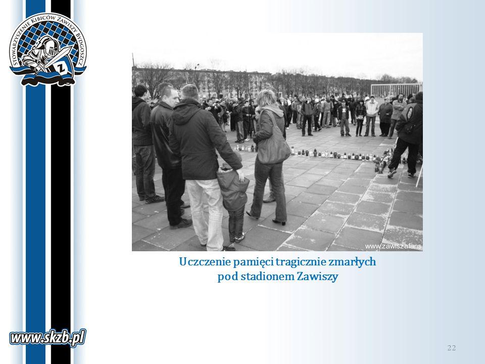 Uczczenie pamięci tragicznie zmarłych pod stadionem Zawiszy 22