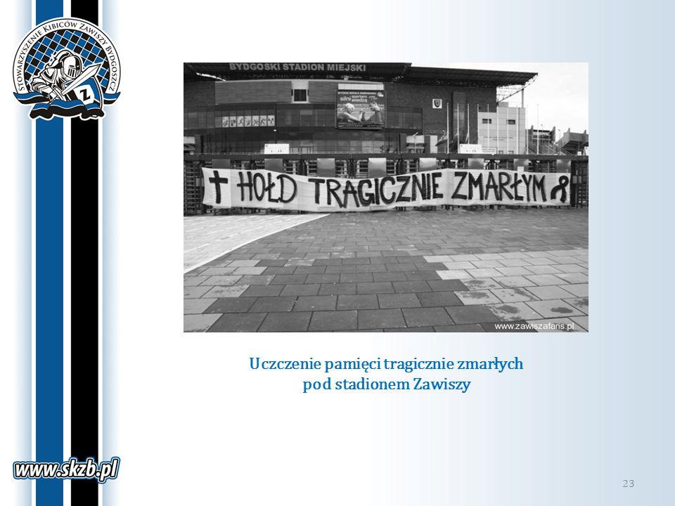 Uczczenie pamięci tragicznie zmarłych pod stadionem Zawiszy 23