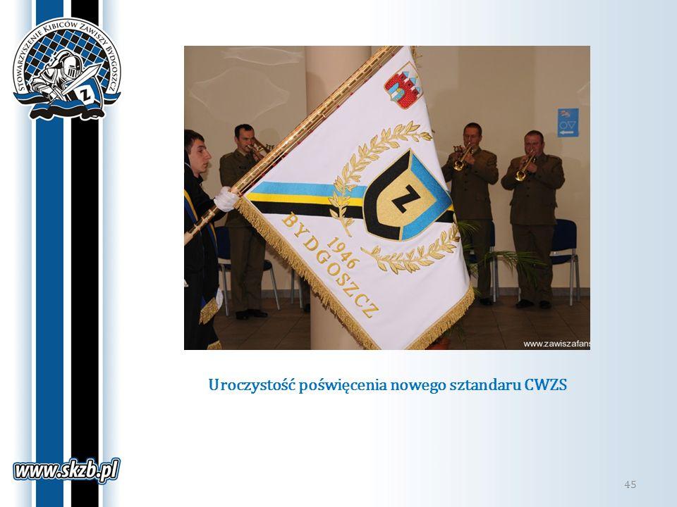 Uroczystość poświęcenia nowego sztandaru CWZS 45