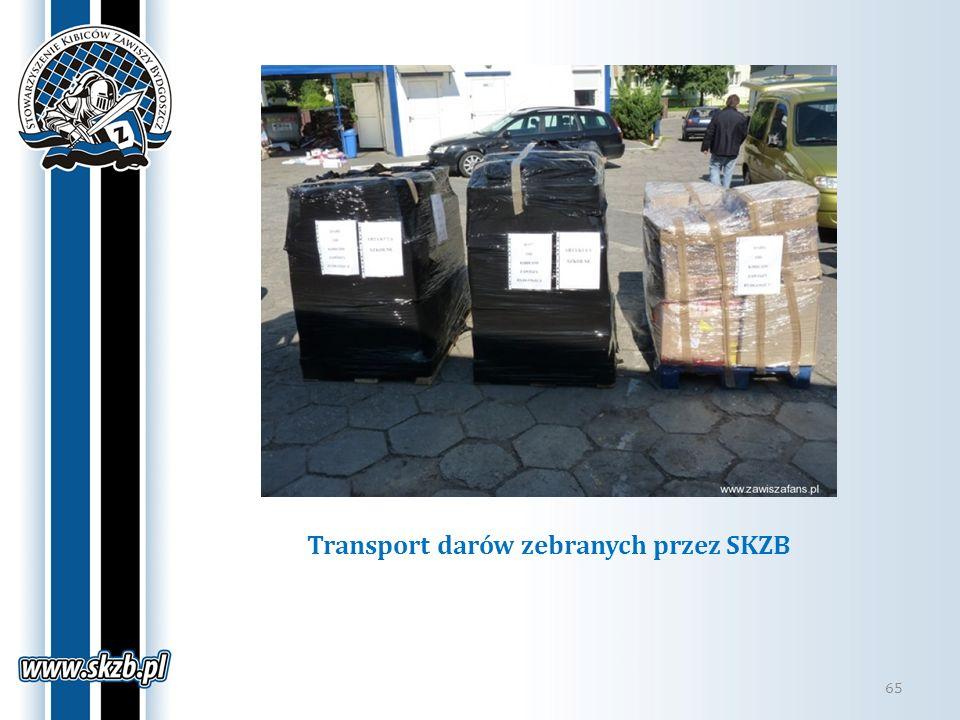 Transport darów zebranych przez SKZB 65