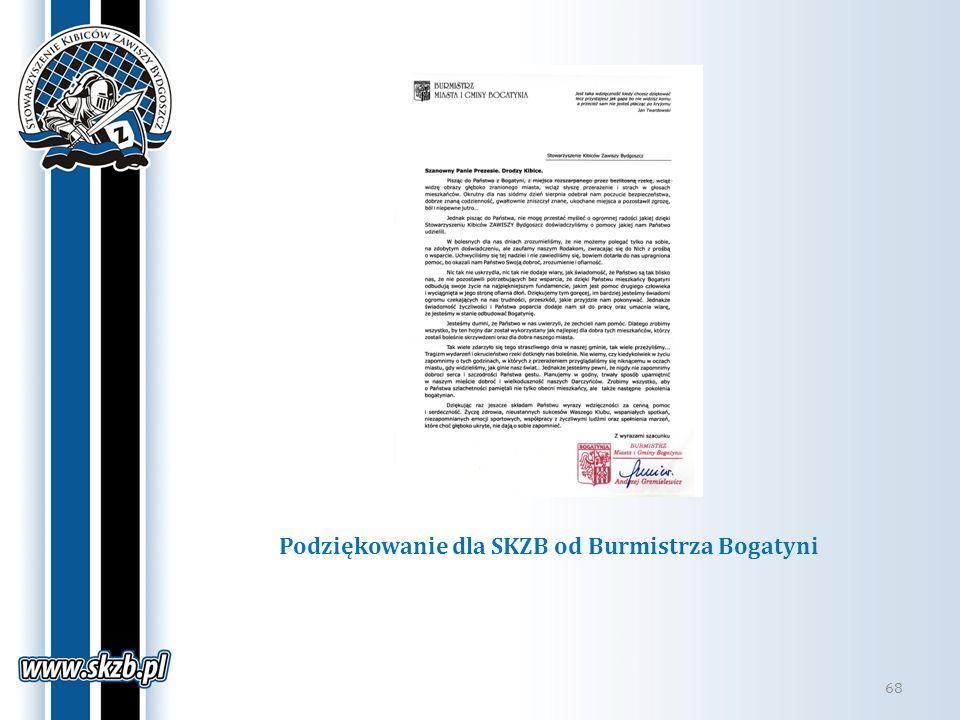 Podziękowanie dla SKZB od Burmistrza Bogatyni 68