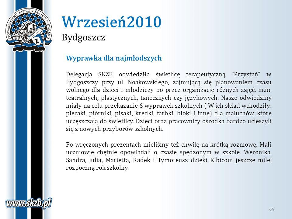 Wrzesień2010 Bydgoszcz 69 Wyprawka dla najmłodszych Delegacja SKZB odwiedziła świetlicę terapeutyczną