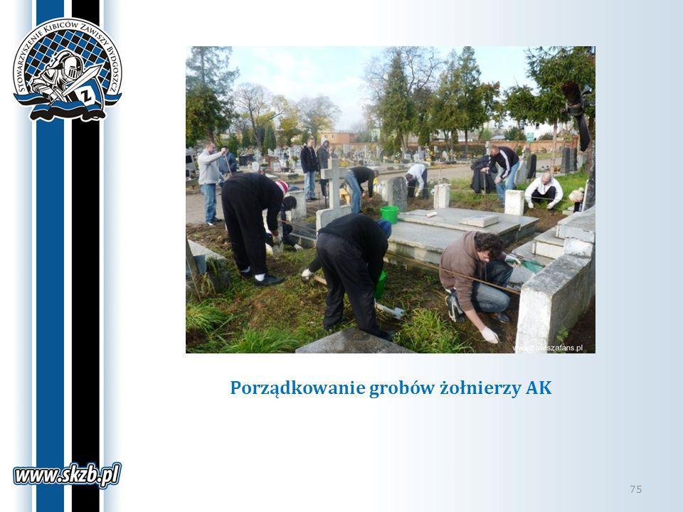 Porządkowanie grobów żołnierzy AK 75