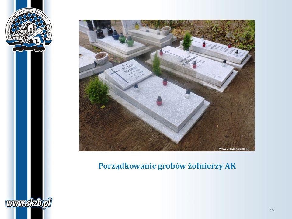 Porządkowanie grobów żołnierzy AK 76