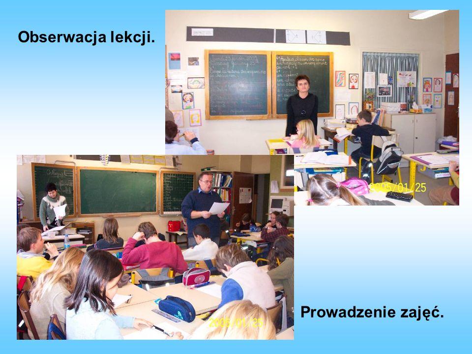 Prowadzenie lekcji origami w klasie uczniów młodszych. Stołówka szkolna.