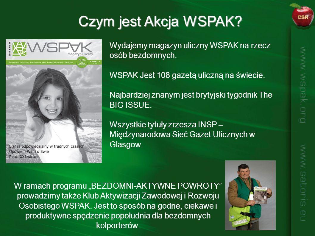 Wydajemy magazyn uliczny WSPAK na rzecz osób bezdomnych.