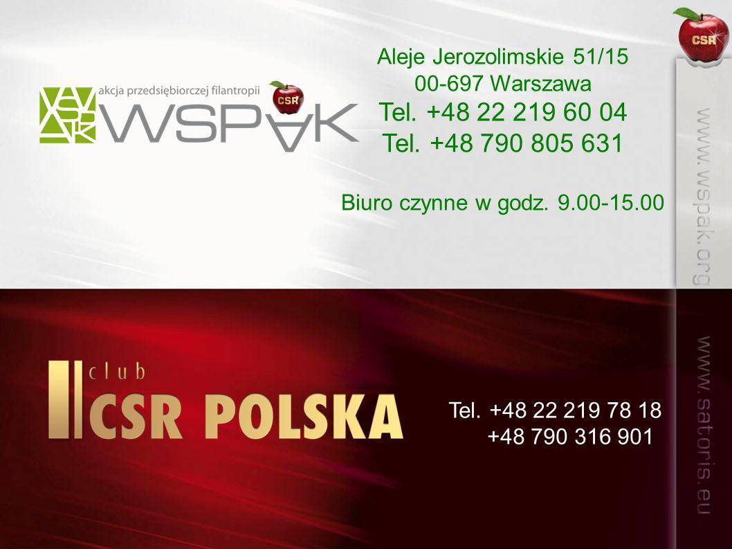 Aleje Jerozolimskie 51/15 00-697 Warszawa Tel. +48 22 219 60 04 Tel.