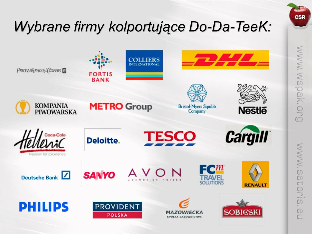 Wybrane firmy kolportujące Do-Da-TeeK: