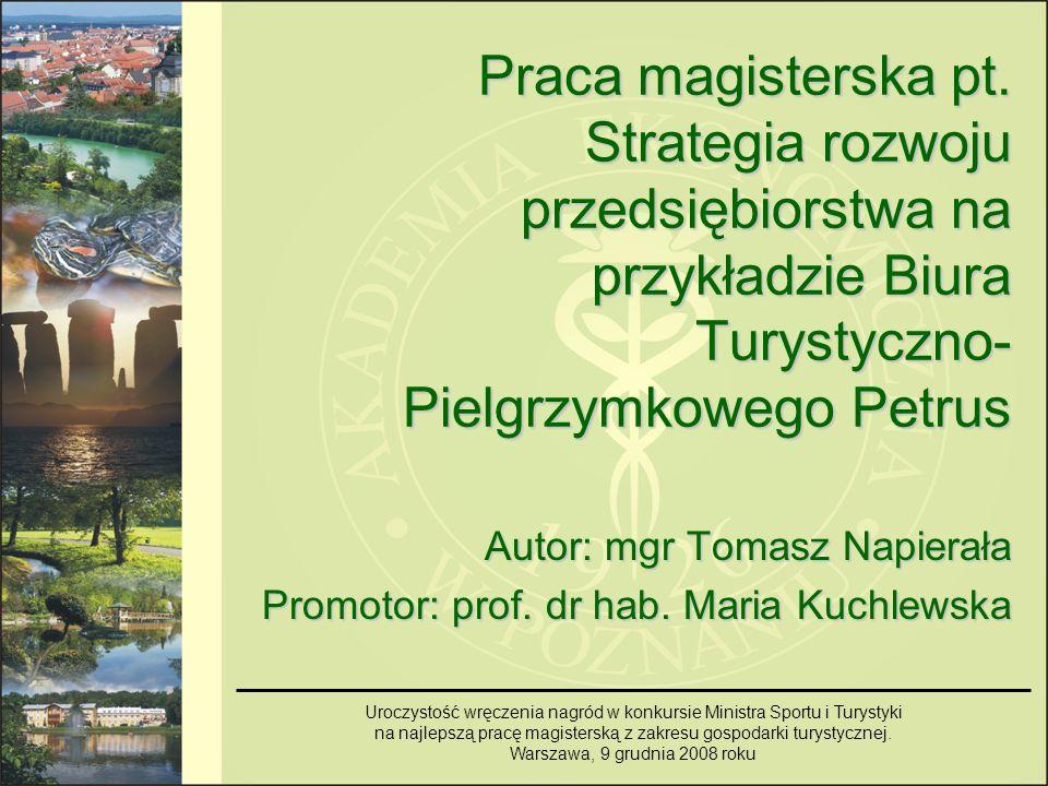 Przesłanki podjęcia tematu Podjęcie tematu pracy wynikało z następujących chęci: Wykorzystania wiedzy zdobytej w toku studiów na kierunku ekonomia, specjalności polityka gospodarcza i strategia przedsiębiorstw w Akademii Ekonomicznej w Poznaniu.