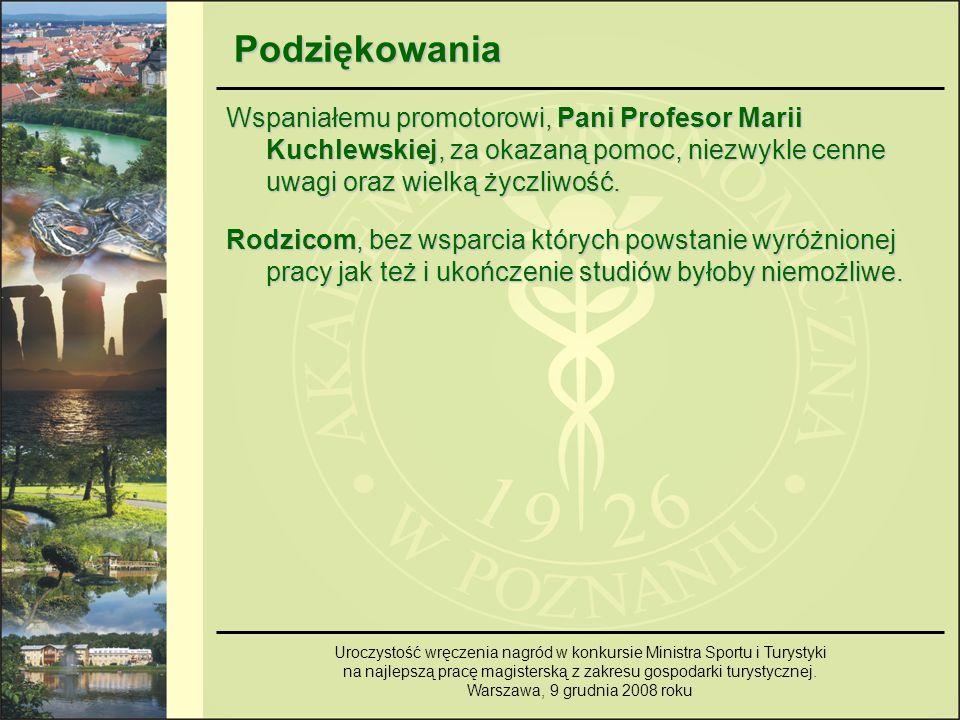Podziękowania Wspaniałemu promotorowi, Pani Profesor Marii Kuchlewskiej, za okazaną pomoc, niezwykle cenne uwagi oraz wielką życzliwość.