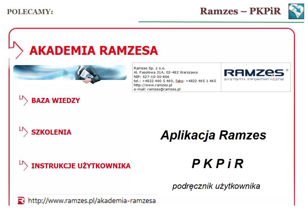 Ramzes – PKPiR POLECAMY: