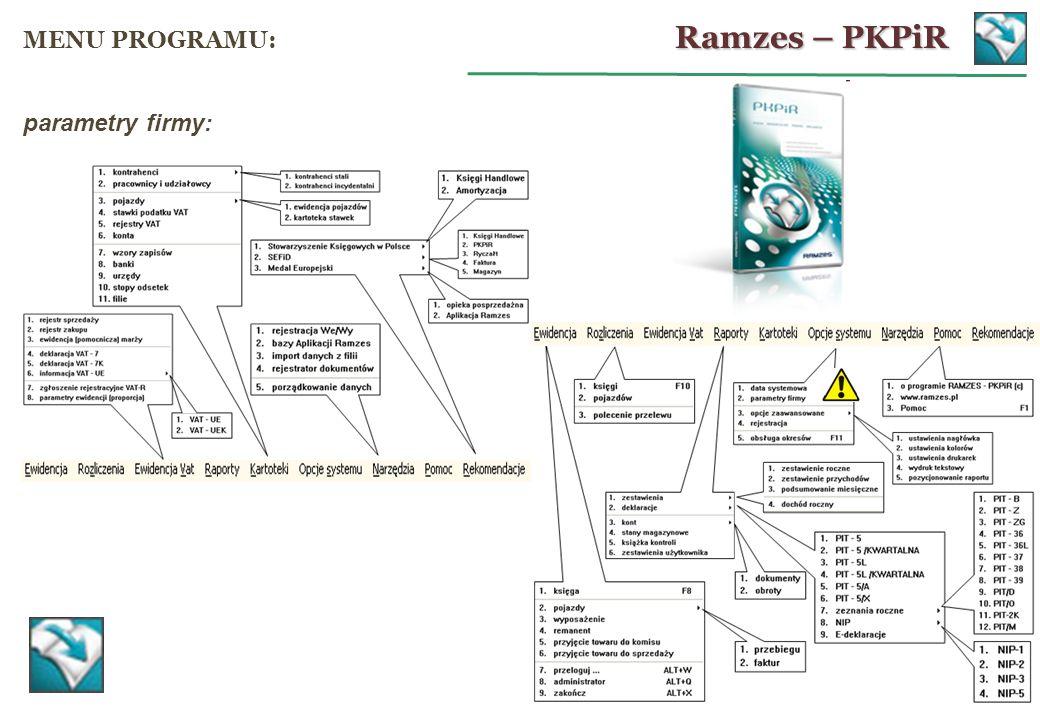 Generowanie deklaracji PIT: PIT-5 PIT-5L PIT-5 (kwartalny) PIT-5L (kwartalny) wyciągi informacyjne (ww.
