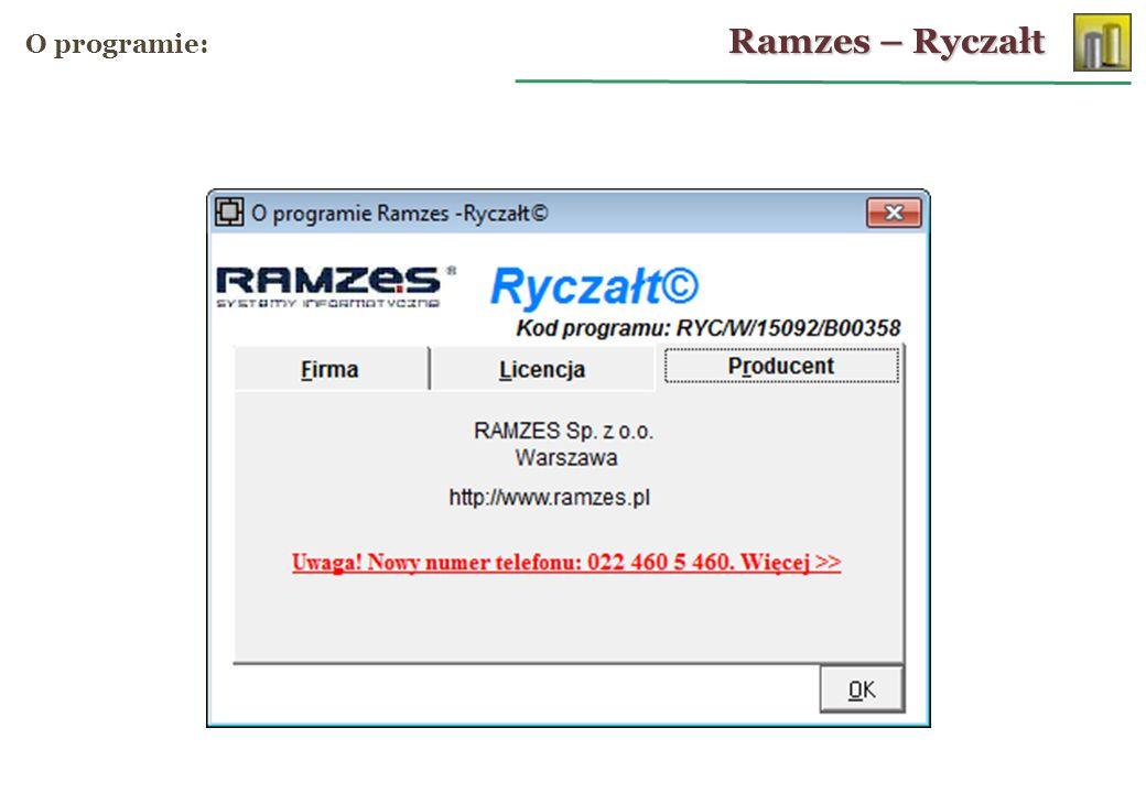 Ramzes – Ryczałt O programie: