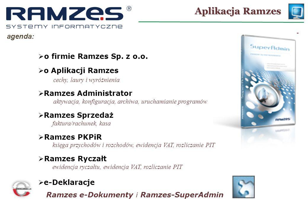 Aplikacja Ramzes agenda: o firmie Ramzes Sp. z o.o.