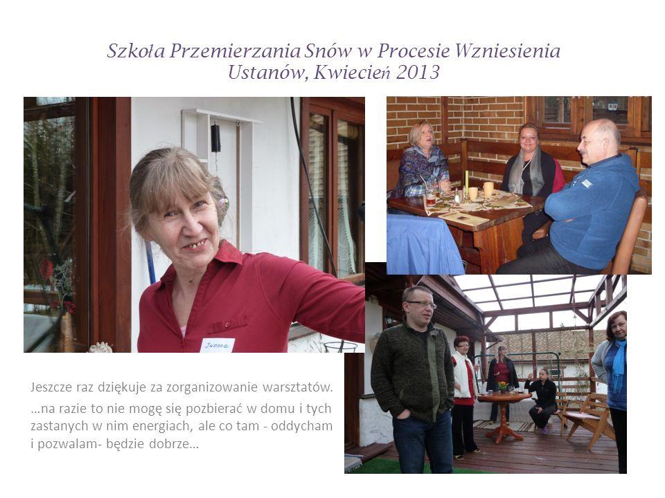 Szko ł a Przemierzania Snów w Procesie Wzniesienia Ustanów, Kwiecie ń 2013
