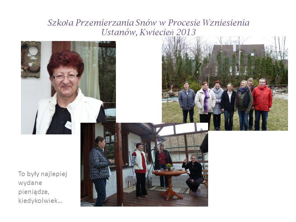 Szko ł a Przemierzania Snów w Procesie Wzniesienia Ustanów, Kwiecie ń 2013 Liliana wykazała się profesjonalizmem i dużym zaangażowaniem.