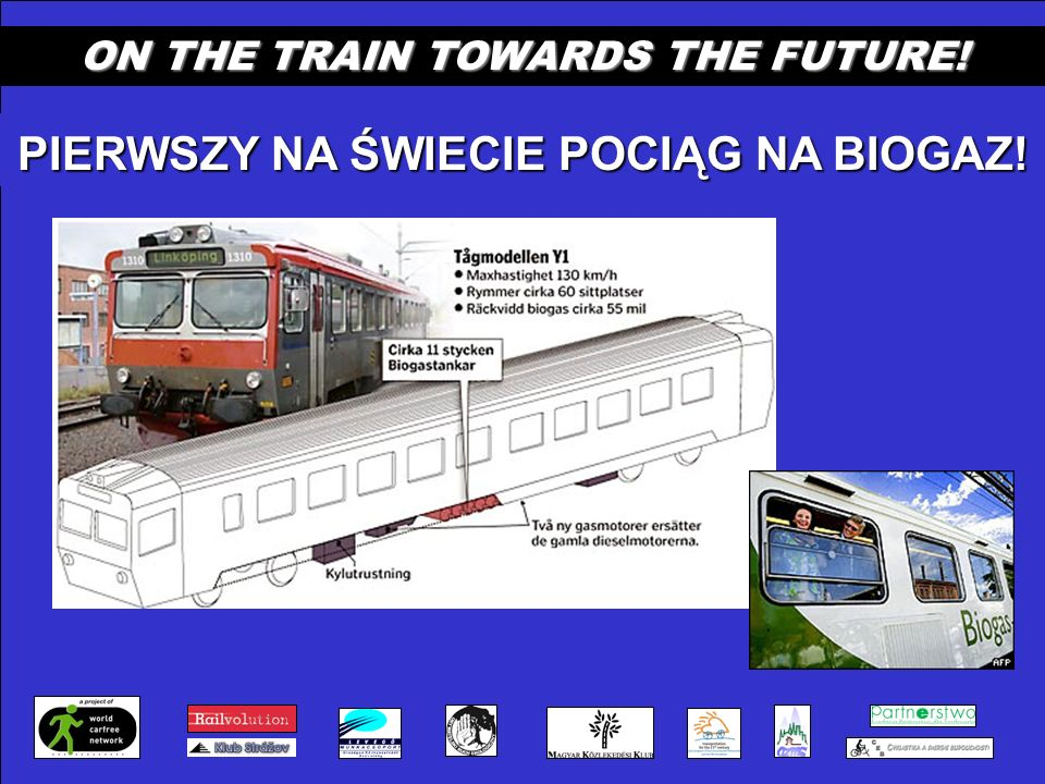 ON THE TRAIN TOWARDS THE FUTURE! PIERWSZY NA ŚWIECIE POCIĄG NA BIOGAZ!