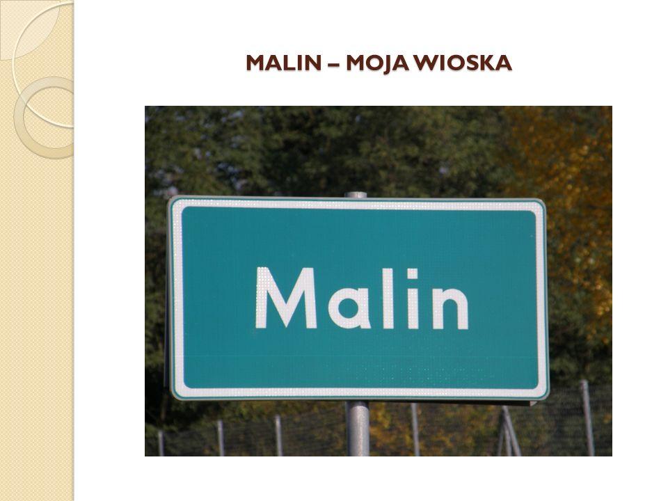 M A L I N Wieś położona przy drodze powiatowej Kryniczno – Ligota Piękna.
