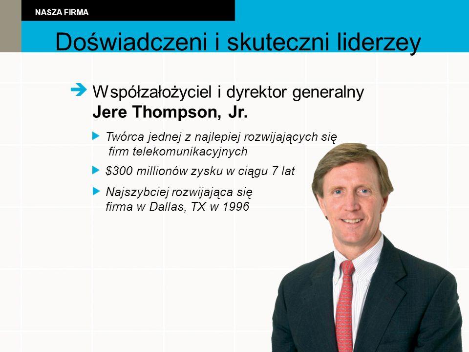 Współzałożyciel i dyrektor generalny Jere Thompson, Jr.