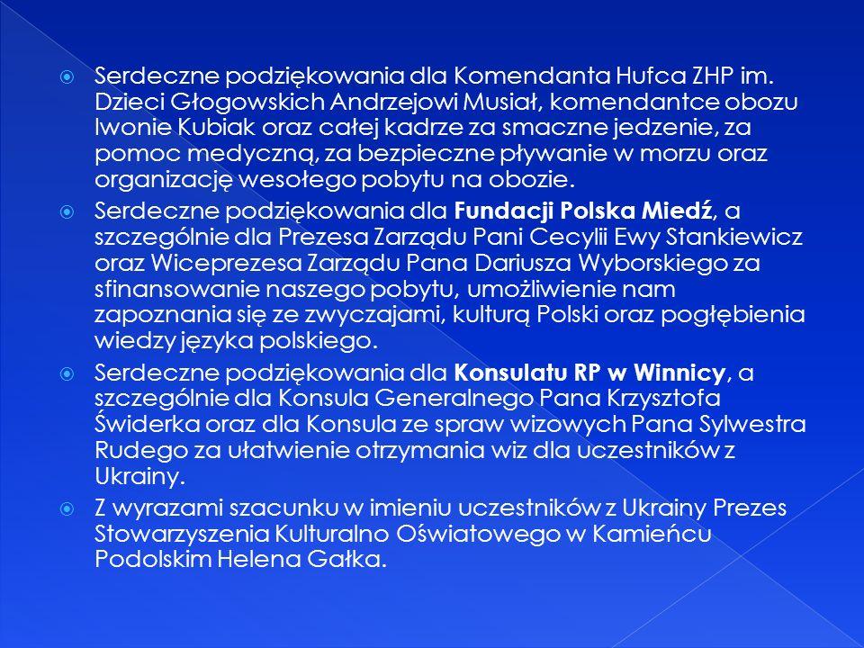Serdeczne podziękowania dla Komendanta Hufca ZHP im.