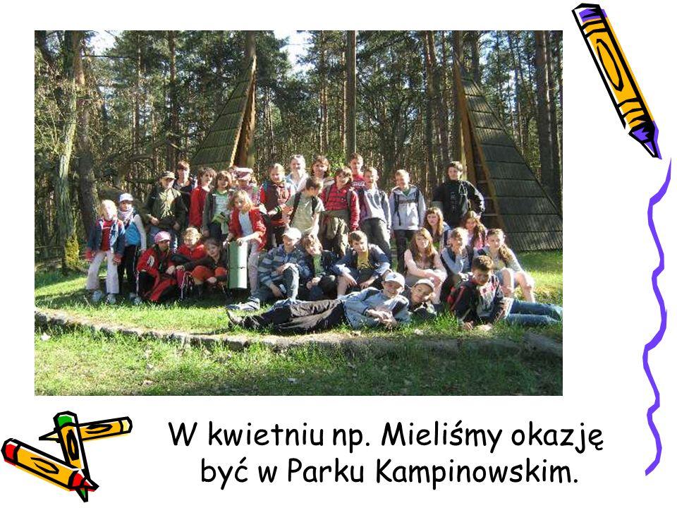 W kwietniu np. Mieliśmy okazję być w Parku Kampinowskim.