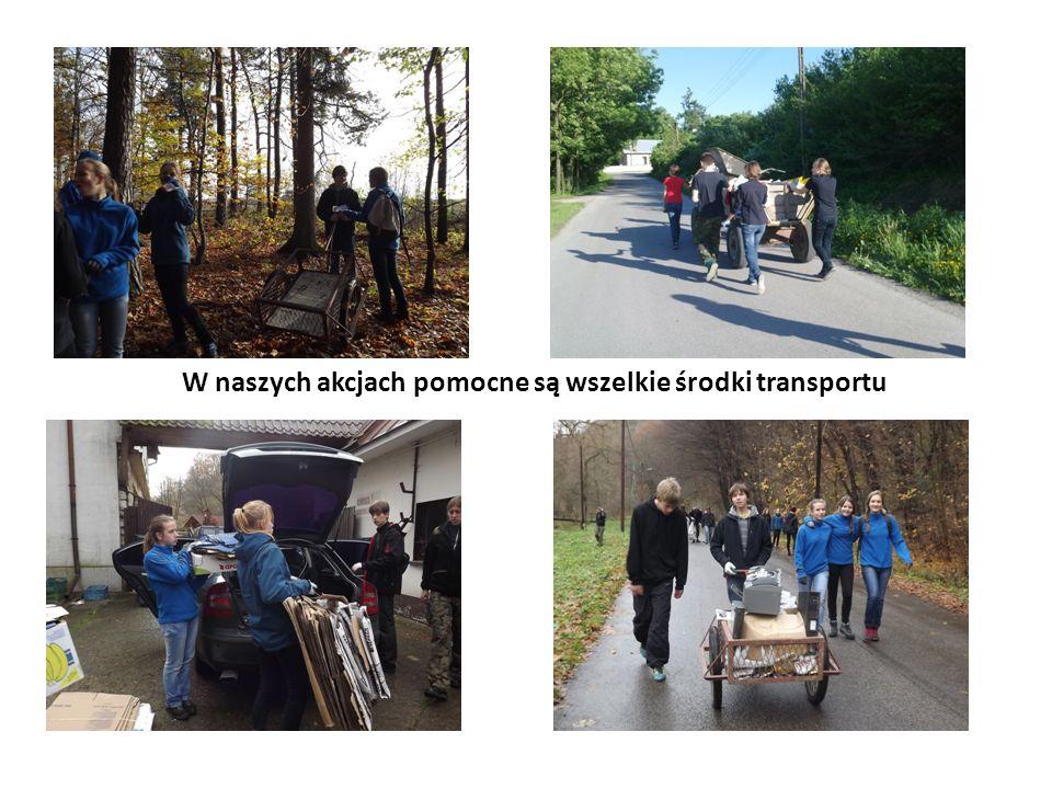 W naszych akcjach pomocne są wszelkie środki transportu