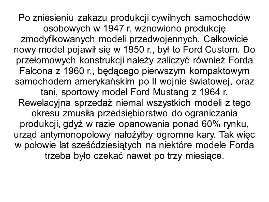 Po zniesieniu zakazu produkcji cywilnych samochodów osobowych w 1947 r. wznowiono produkcję zmodyfikowanych modeli przedwojennych. Całkowicie nowy mod