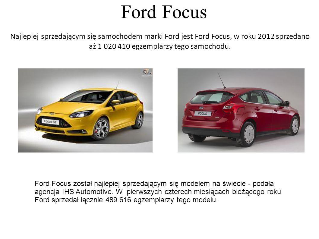 Ford Focus Ford Focus został najlepiej sprzedającym się modelem na świecie - podała agencja IHS Automotive. W pierwszych czterech miesiącach bieżącego