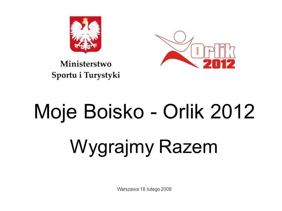 Moje Boisko - Orlik 2012 Wygrajmy Razem Warszawa 18 lutego 2009