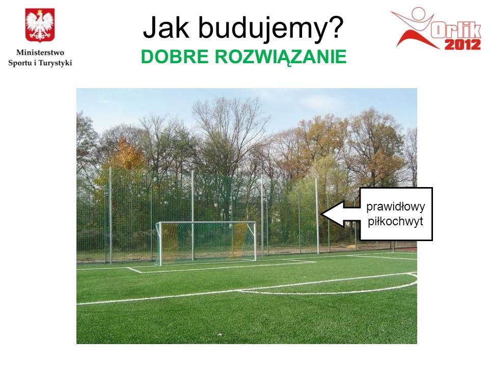 prawidłowy piłkochwyt Jak budujemy? DOBRE ROZWIĄZANIE
