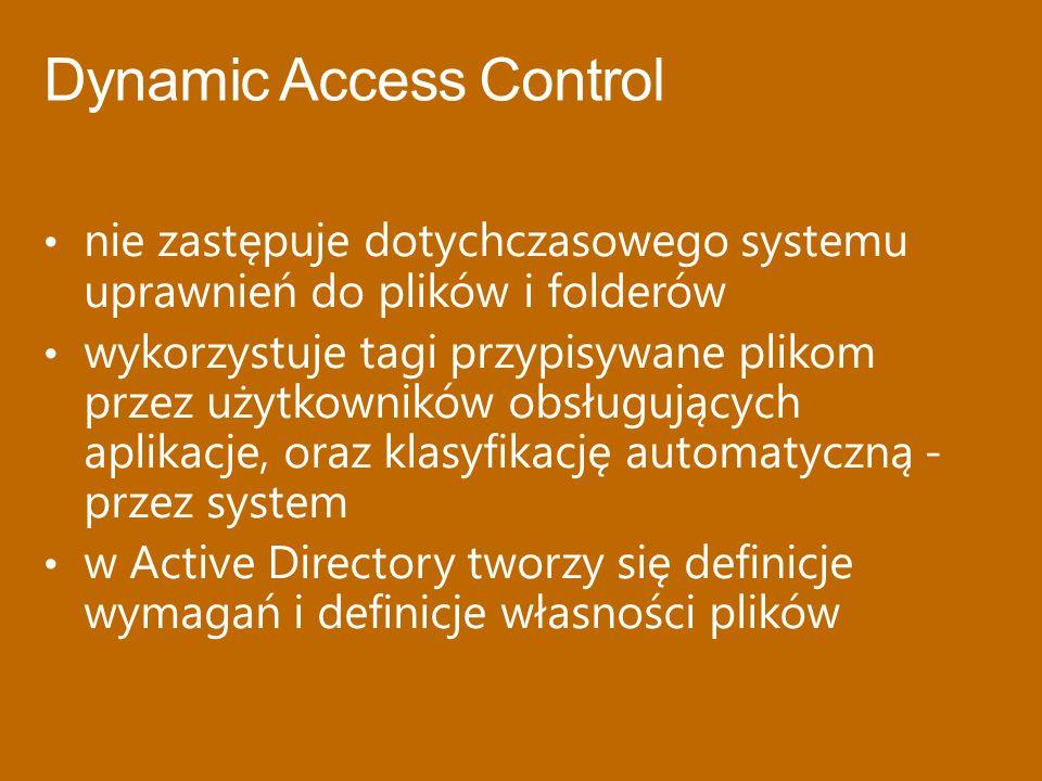 nie zastępuje dotychczasowego systemu uprawnień do plików i folderów wykorzystuje tagi przypisywane plikom przez użytkowników obsługujących aplikacje,