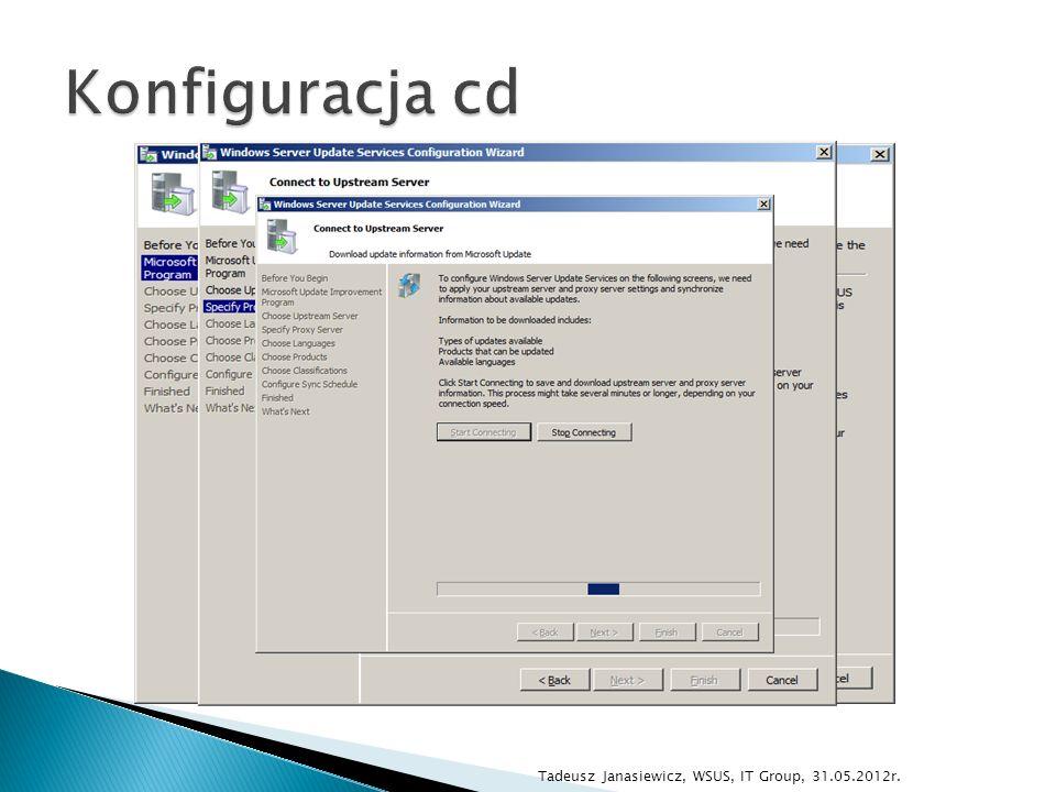 demo …? Tadeusz Janasiewicz, WSUS, IT Group, 31.05.2012r.