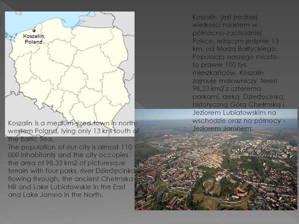 Koszalin jest średniej wielkości miastem w północno-zachodniej Polsce, leżącym jedynie 13 km.