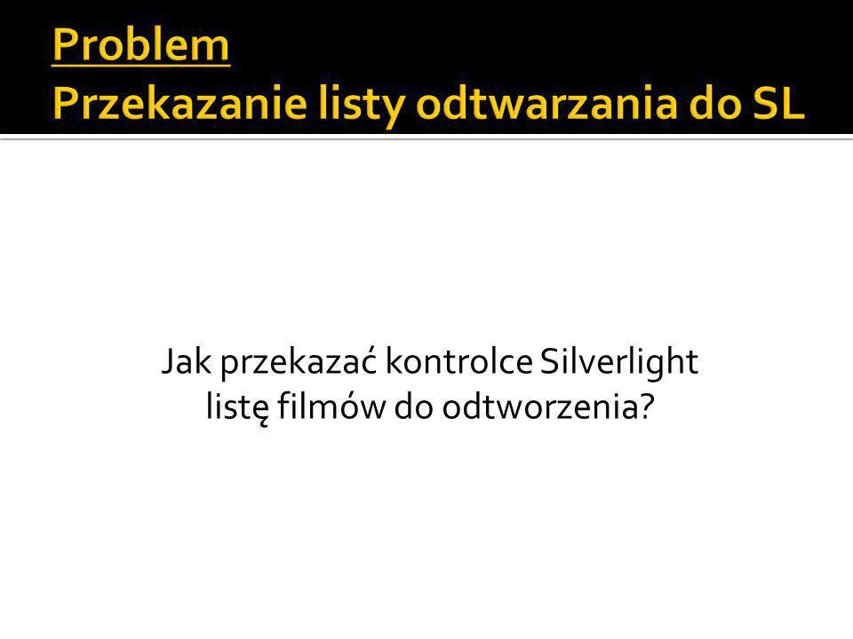 Jak przekazać kontrolce Silverlight listę filmów do odtworzenia